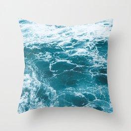 Tropic Beach Ocean Waves Throw Pillow