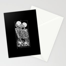 The Lovers Skull Kiss Stationery Cards