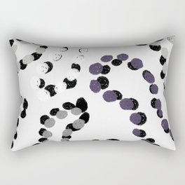 Purple Mardi Gras Beards Rectangular Pillow