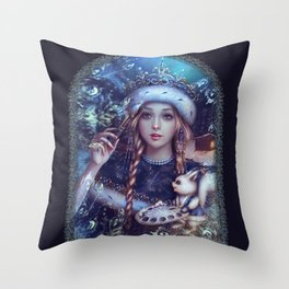 Snegurochka Throw Pillow