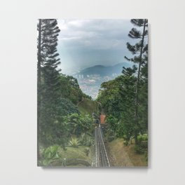 Downhill shot from a lifting up Train in Malaysia. Metal Print