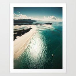 whitsunday island aerial Art Print