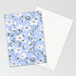 Gentle Array of White Periwinkles Stationery Cards