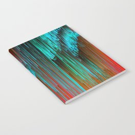 Nice Day for a Walk - Abstract Glitchy Pixel Art Notebook