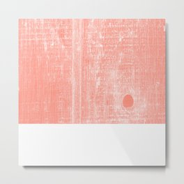 Coral white abstract wood grain pattern Metal Print