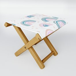 Rainbow Chroma Pastel Folding Stool