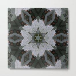 geometric texture plant 3 Metal Print
