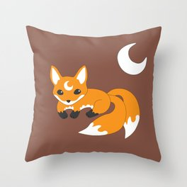 Kitsune Fox Throw Pillow