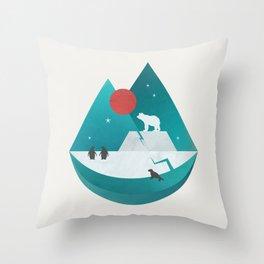 Arctic Antarctica Throw Pillow