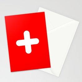 Swiss flag modern 3 Stationery Cards
