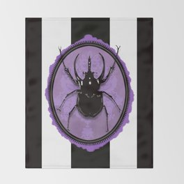 Juicy Beetle PURPLE Throw Blanket