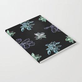 Quercus (black, green) Notebook