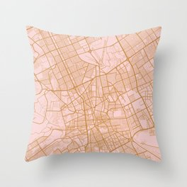 Riyadh map, Saudi Arabia Throw Pillow