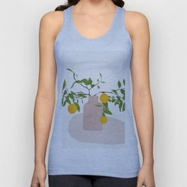 Lemon Branches Unisex Tank Top