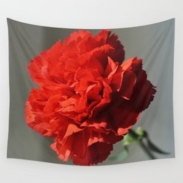Beautiful Red Carnation Flower Photograph Wall Tapestry