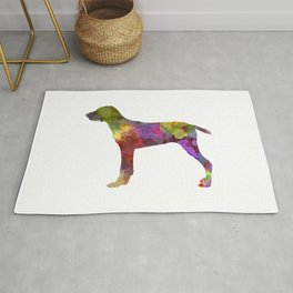 Wirehaired Slovakian Pointer  in watercolor-2 Rug