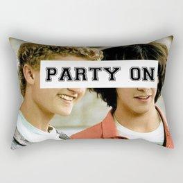 Party on dude Rectangular Pillow