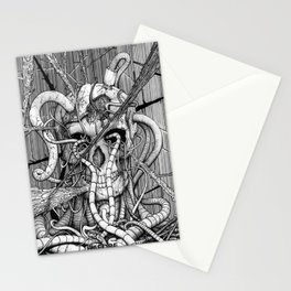 de hypterion I - The guardian - skull Stationery Cards