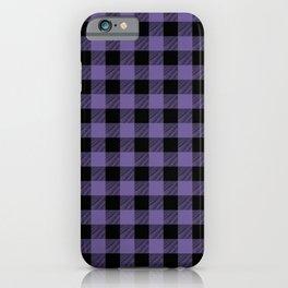 Purple Buffalo Plaid iPhone Case