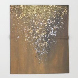 Precious metals Throw Blanket