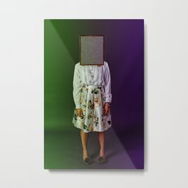 Crypto Head Metal Print