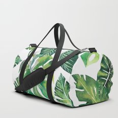 Jungle Leaves, Banana, Monstera #society6 Duffle Bag