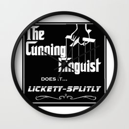 The Cunning Linguist Wall Clock