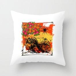 Pekingese pop art Throw Pillow