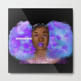 Cosmic Afro Puffs V2  Metal Print