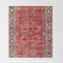Sarouk Arak West Persian Carpet Print Throw Blanket
