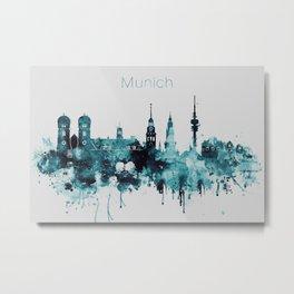Munich City Skyline Metal Print