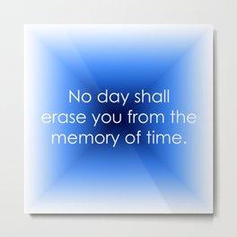 Memory of Time Metal Print