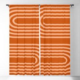 Terracotta Rainbow Blackout Curtain