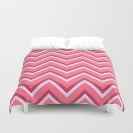 Pink Zig Zag Pattern Duvet Cover