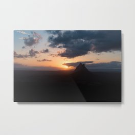 Sunsets and Silhouettes Metal Print