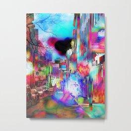 Boston Lights Remix Metal Print