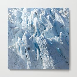 Alaskan Blue Ice Glacier Metal Print