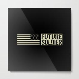 Future Soldier (Black Flag) Metal Print
