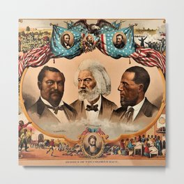 1881 African American 'Heroes of the Colored Race' Library of Congress Print Poster Metal Print