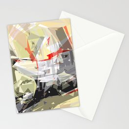 rotating polygones Stationery Cards