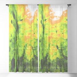 Blobs 8 Sheer Curtain