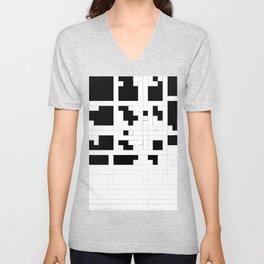 Monochrome Pixels Unisex V-Neck