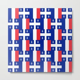 Mix of flag : France and Quebec Metal Print