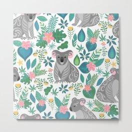 Koala Seamless Pattern Metal Print