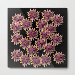 Spring Flowers Pattern Metal Print