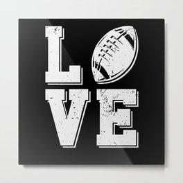 American Football Football Player Love Metal Print