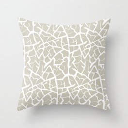 Crackle in Stone and White Throw Pillow