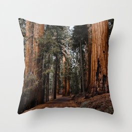 Walking Sequoia 2 Throw Pillow