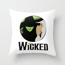 broadway musical wicked Throw Pillow