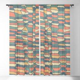 Brick Sheer Curtain
